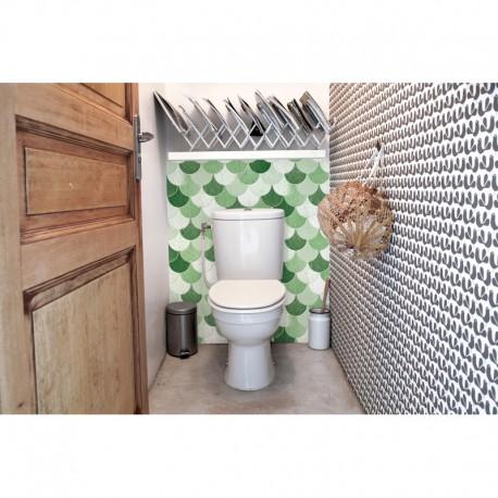 cr dence de wc ecailles rev tement mural wc vintage. Black Bedroom Furniture Sets. Home Design Ideas