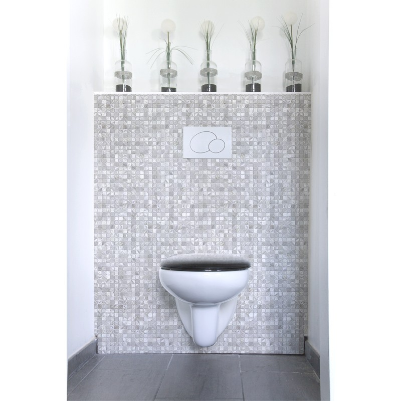 cr dence de wc d corative mondrian mosa que uni rev tement mural d coratif wc vintage. Black Bedroom Furniture Sets. Home Design Ideas
