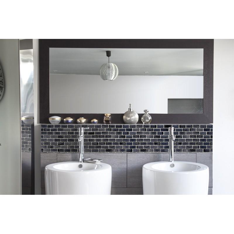 cr dence de lavabo carrelage noir rev tement lavabo black white. Black Bedroom Furniture Sets. Home Design Ideas