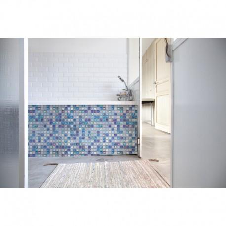 crédence de baignoire salle de bain mosaïque marocaine bleue ...