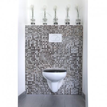 cr dence de wc mosa que marocaine argent e sur mesure rev tement mural wc th me voyage. Black Bedroom Furniture Sets. Home Design Ideas