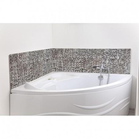 cr dence de baignoire mosa que marocaine argent e sur mesure rev tement baignoire th me voyage. Black Bedroom Furniture Sets. Home Design Ideas