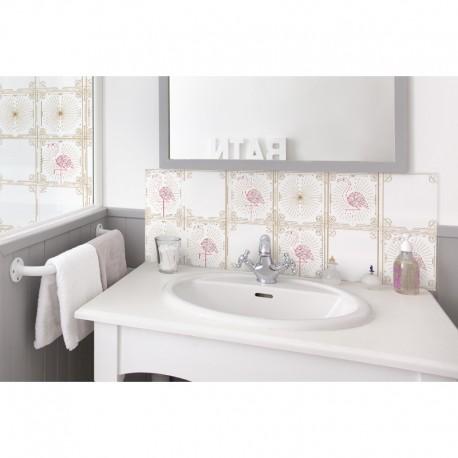 cr dence de lavabo white flamingo sur mesure rev tement lavabo ambiance nature. Black Bedroom Furniture Sets. Home Design Ideas