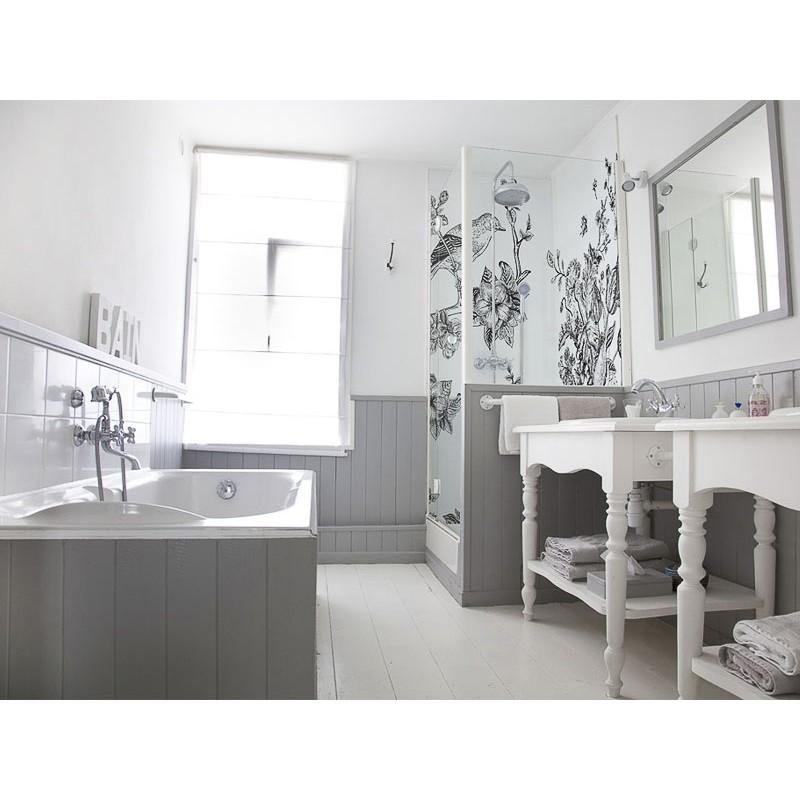 panneau de douche salle de bain japonisant panneau maison du japon douche style nature. Black Bedroom Furniture Sets. Home Design Ideas