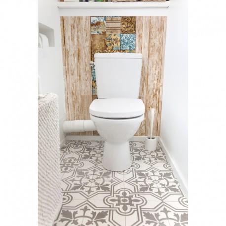 cr dence de wc salle de bain baroque nordique rev tement mural wc d coratif style scandinave. Black Bedroom Furniture Sets. Home Design Ideas