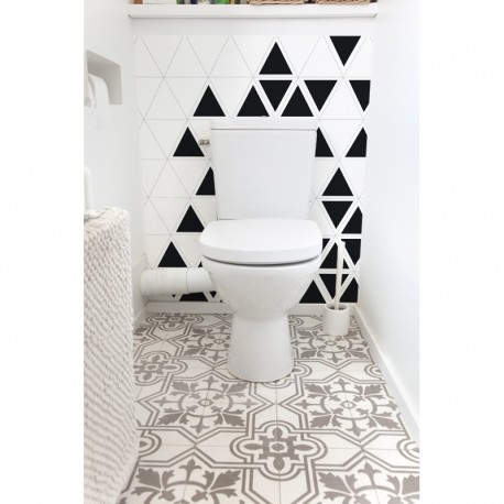 cr dence de wc trixel sur mesure rev tement mural salle de bain wc style black white. Black Bedroom Furniture Sets. Home Design Ideas