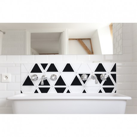 cr dence de lavabo salle de bain trixel revetement lavabo black white. Black Bedroom Furniture Sets. Home Design Ideas