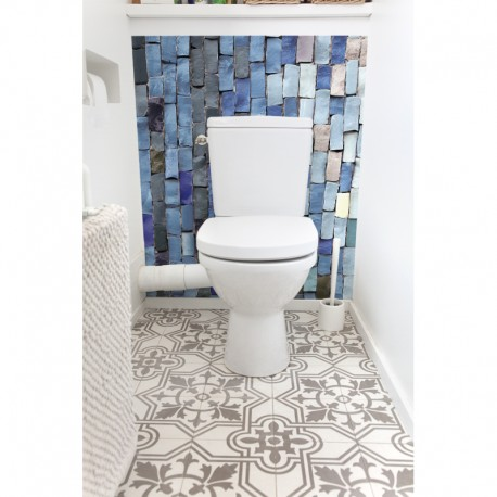 cr dence de wc br sil sur mesure rev tement mural d coratif wc th me voyage. Black Bedroom Furniture Sets. Home Design Ideas