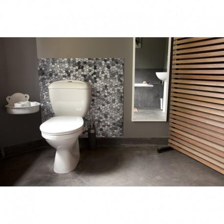 cr dence de wc byzance gris sur mesure rev tement mural salle de bain wc th me voyage. Black Bedroom Furniture Sets. Home Design Ideas