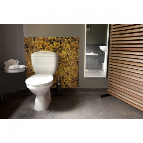 cr dence de wc byzance or sur mesure rev tement mural salle de bain wc th me voyage. Black Bedroom Furniture Sets. Home Design Ideas