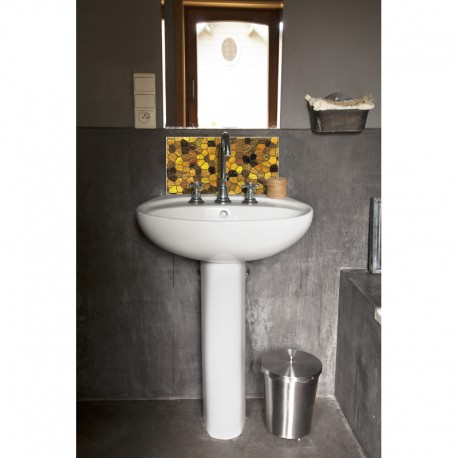 cr dence de lavabo byzance or sur mesure rev tement lavabo th me voyage. Black Bedroom Furniture Sets. Home Design Ideas