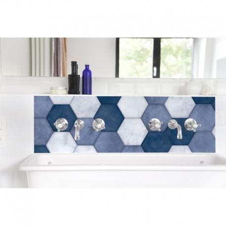 Hexagone bleu