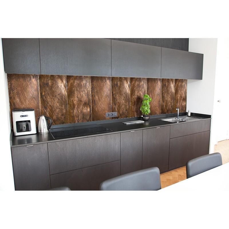 cr dence de cuisine plan de travail dalle de cuivre sur mesure cr dence plan de travail. Black Bedroom Furniture Sets. Home Design Ideas