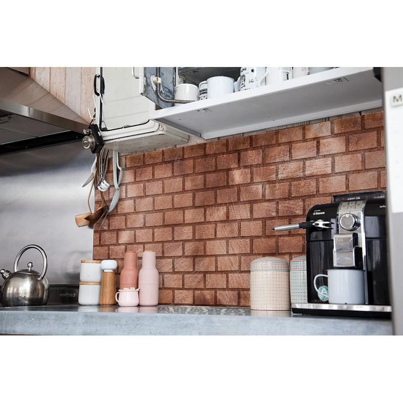 cr dence plan de travail briquette cuivre cr dence plan. Black Bedroom Furniture Sets. Home Design Ideas