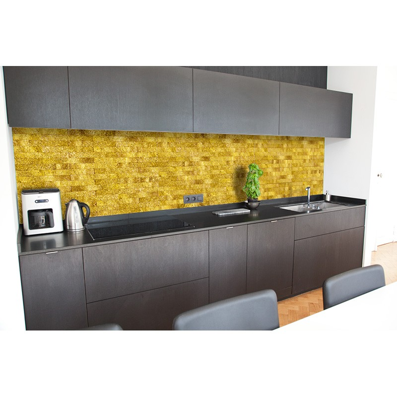 cr dence vier brique or sur mesure cr dence vier style industriel. Black Bedroom Furniture Sets. Home Design Ideas