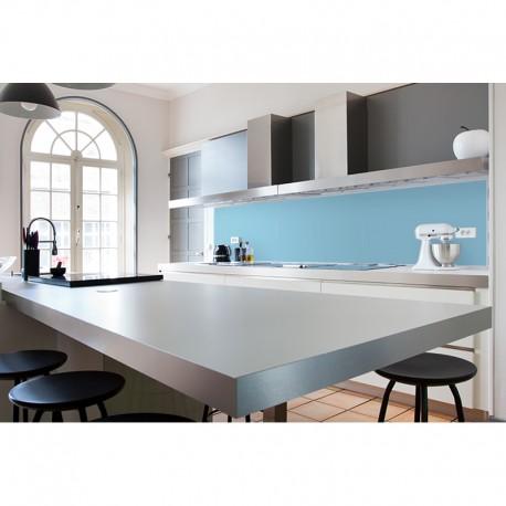 cr dence plan de travail bleu ciel cr dence plan de travail couleur unie. Black Bedroom Furniture Sets. Home Design Ideas