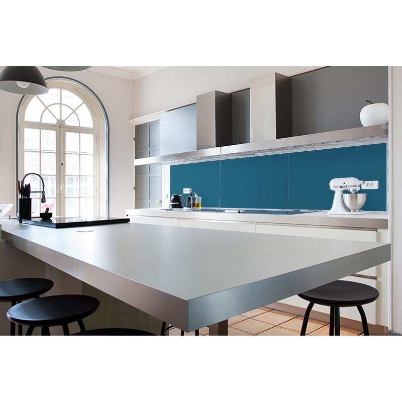 cr dence vier bleu acier sur mesure cr dence vier couleur unie. Black Bedroom Furniture Sets. Home Design Ideas