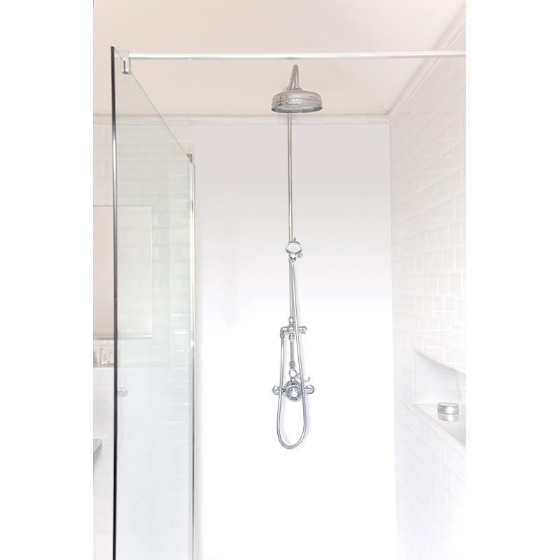 panneau de douche d coratif blanc laqu panneau de douche salle de bain sur mesure. Black Bedroom Furniture Sets. Home Design Ideas