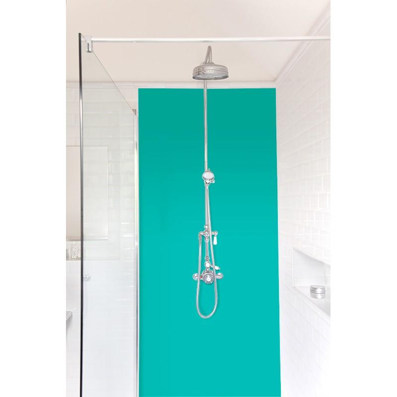 panneau de douche salle de bain turquoise panneau mural uni. Black Bedroom Furniture Sets. Home Design Ideas