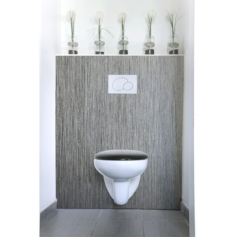 Cr dence de wc alu bross rev tement mural wc mati res for Credence alu brosse
