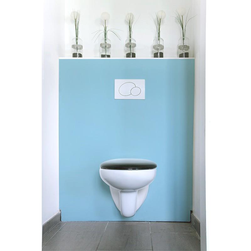 Cr dence de wc salle de bain bleu ciel rev tement mural for Salle de bain bleu ciel