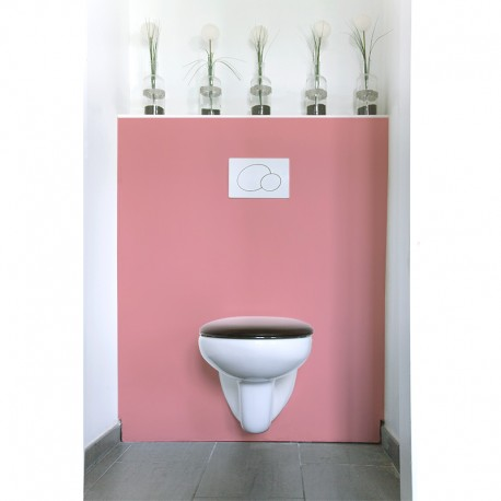 cr dence de wc blush rev tement mural wc uni. Black Bedroom Furniture Sets. Home Design Ideas