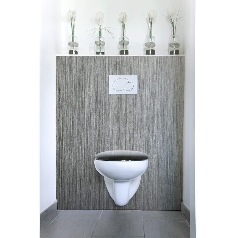 Cr dence de wc alu bross sur mesure rev tement mural for Credence alu brosse sur mesure