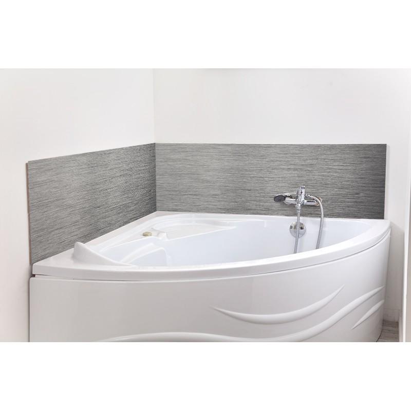 cr dence de baignoire salle de bain alu bross rev tement d coratif baignoire mati res. Black Bedroom Furniture Sets. Home Design Ideas