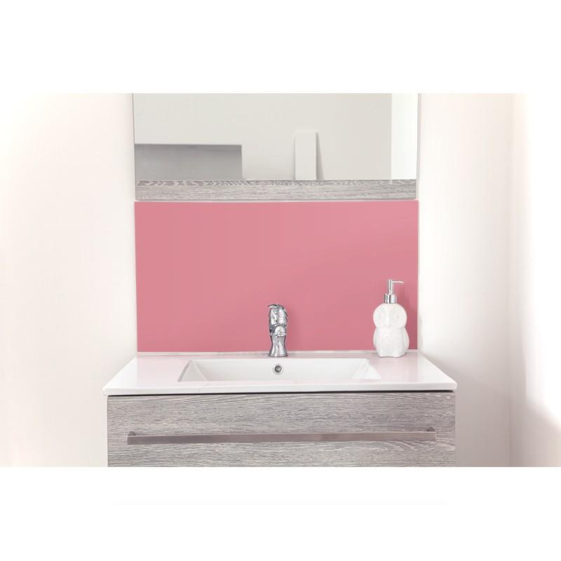 cr dence de lavabo blush sur mesure rev tement lavabo uni. Black Bedroom Furniture Sets. Home Design Ideas