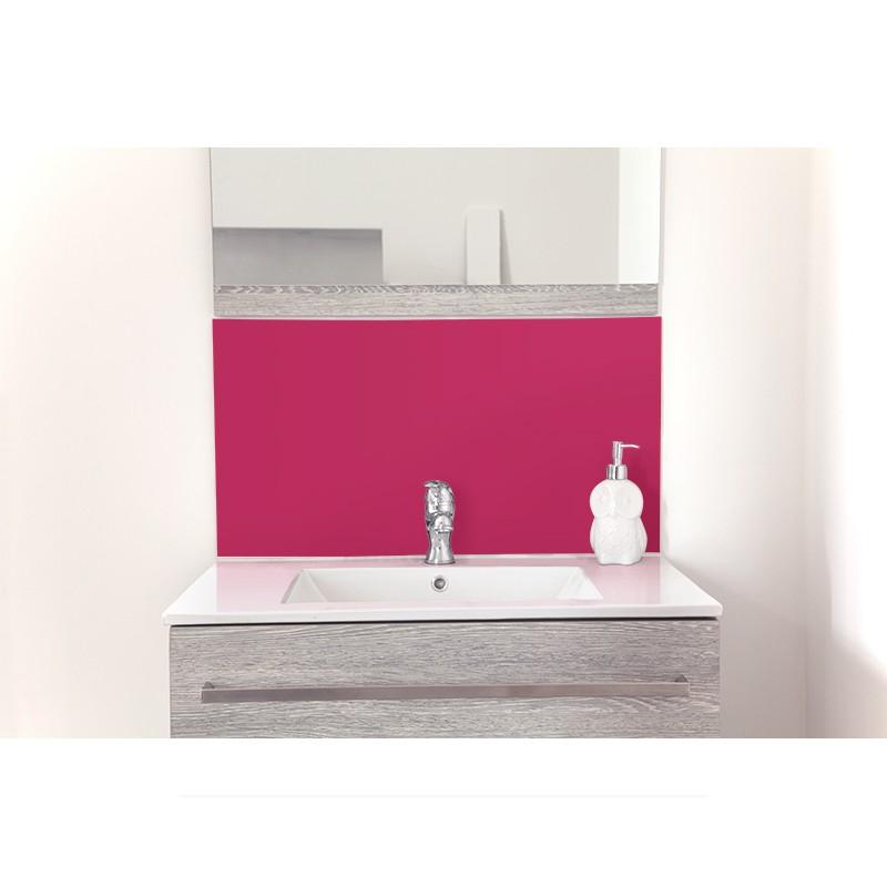 cr dence de lavabo framboise sur mesure rev tement lavabo uni. Black Bedroom Furniture Sets. Home Design Ideas