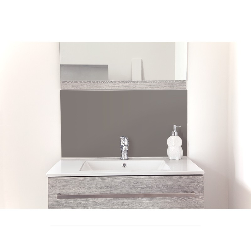 cr dence de lavabo gris clair nacr rev tement lavabo laqu. Black Bedroom Furniture Sets. Home Design Ideas