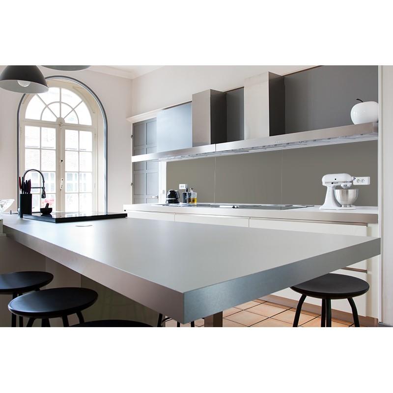 Cr dence plan de travail gris clair nacr sur mesure cr dence plan de travail laqu e - Plan de travail cuisine gris clair ...