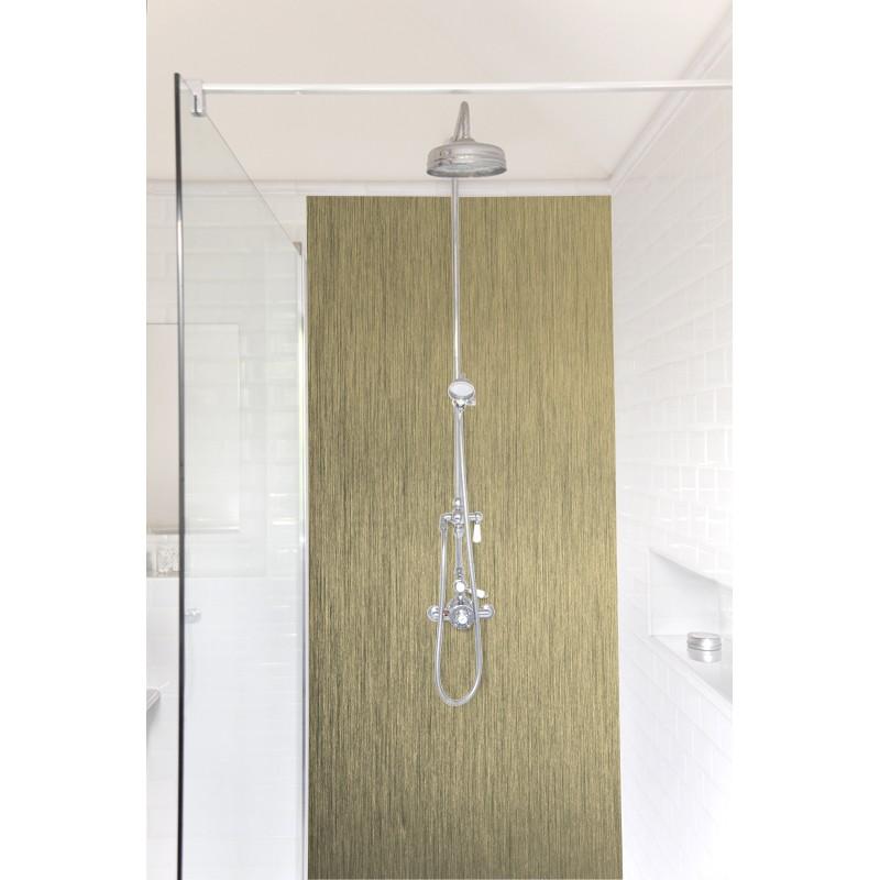 panneau de douche or bross rev tement mural salle de bain douche mati res. Black Bedroom Furniture Sets. Home Design Ideas