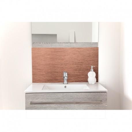 cr dence de lavabo cuivre bross sur mesure rev tement. Black Bedroom Furniture Sets. Home Design Ideas