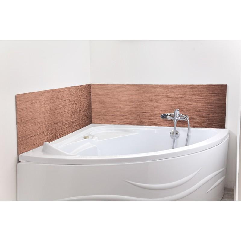 Cr dence de baignoire cuivre bross sur mesure for Credence alu brosse sur mesure