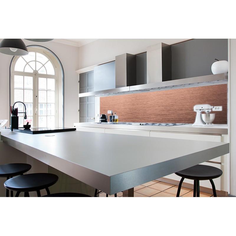 cr dence plan de travail cuivre bross sur mesure cr dence plan de travail mati res. Black Bedroom Furniture Sets. Home Design Ideas