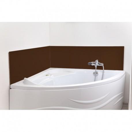 cr dence de baignoire chocolat laqu sur mesure rev tement baignoire laqu. Black Bedroom Furniture Sets. Home Design Ideas