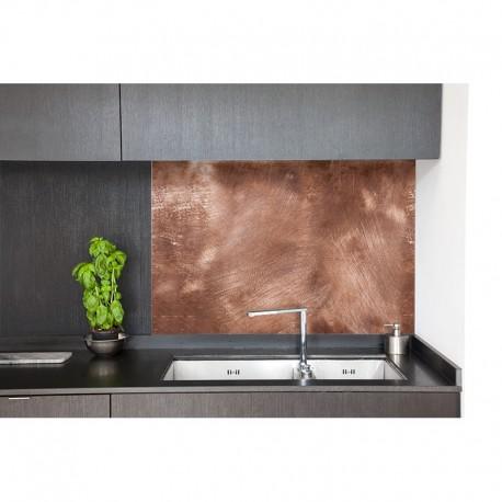 cr dence hotte cuivre patin sur mesure cr dence hotte style industriel. Black Bedroom Furniture Sets. Home Design Ideas