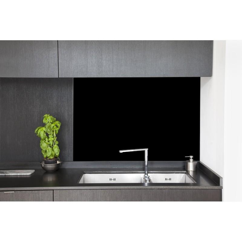 cr dence hotte noir laqu sur mesure cr dence hotte laqu e. Black Bedroom Furniture Sets. Home Design Ideas