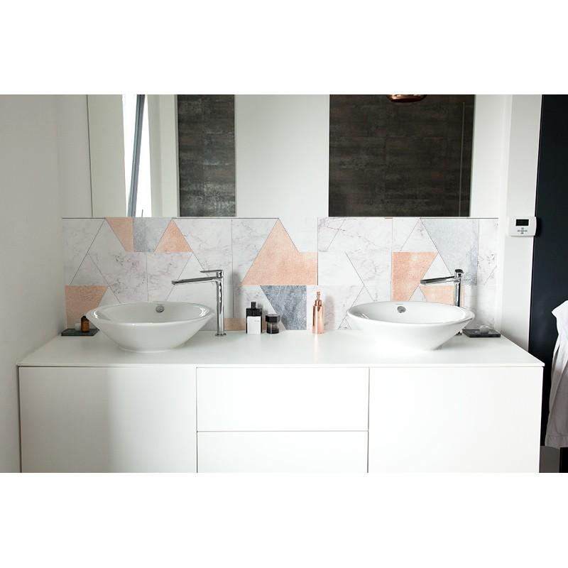 cr dence de lavabo marbre pastel rev tement lavabo tendance. Black Bedroom Furniture Sets. Home Design Ideas