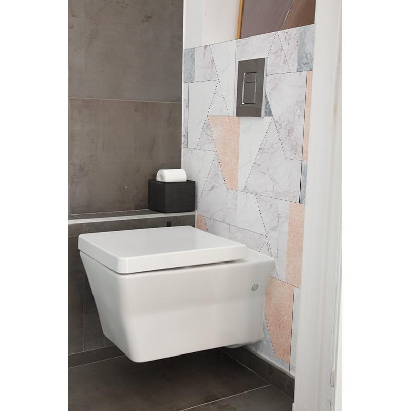 Cr dence de wc marbre pastel sur mesure rev tement - Revetement mural pour wc ...