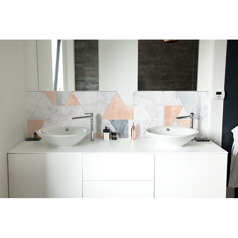 cr dence de lavabo marbre pastel sur mesure rev tement lavabo tendance. Black Bedroom Furniture Sets. Home Design Ideas