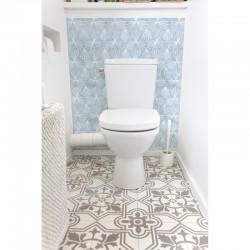 cr dence de wc azur rev tement mural wc bleu ternel. Black Bedroom Furniture Sets. Home Design Ideas