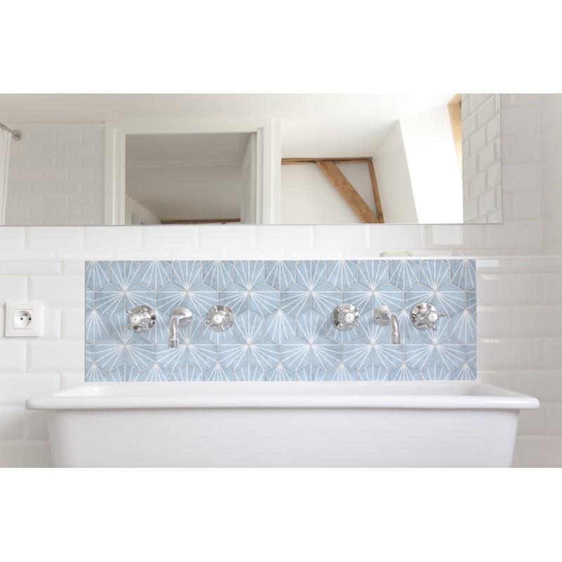 cr dence de lavabo azur rev tement lavabo bleu ternel. Black Bedroom Furniture Sets. Home Design Ideas