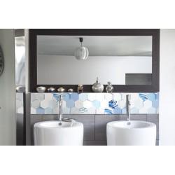cr dence de lavabo pacific dream rev tement lavabo bleu ternel. Black Bedroom Furniture Sets. Home Design Ideas