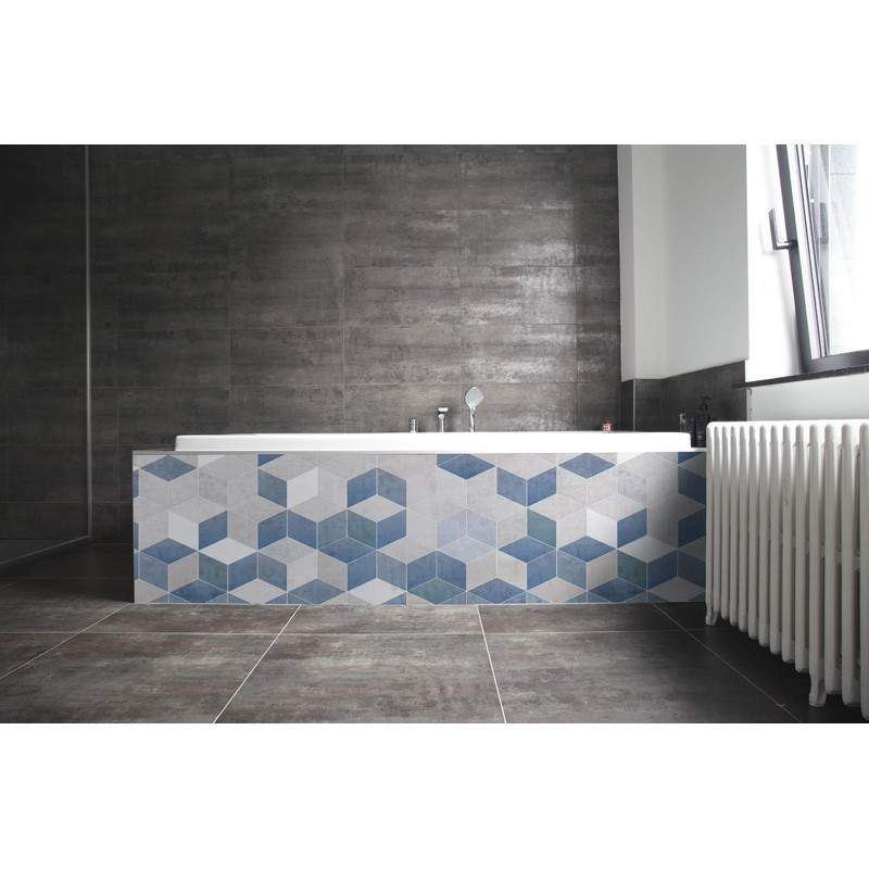 cr dence de baignoire bleu gris rev tement baignoire. Black Bedroom Furniture Sets. Home Design Ideas