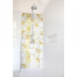 Panneau de douche Patchwork suédois jaune
