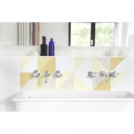Crédence lavabo Patchwork suédois jaune