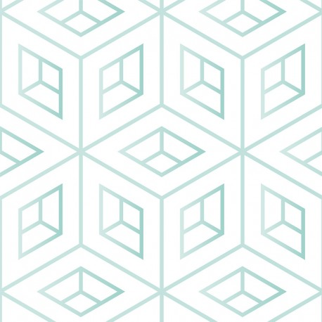 Géométrie scandinave vert