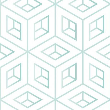 Géométrie scandinave vert - sur mesure
